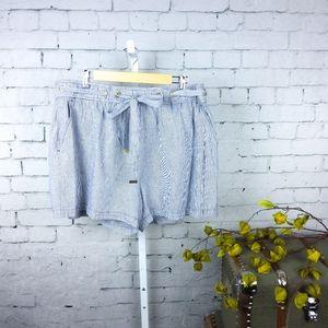 NWT Michael Kors pinstripe shorts drawstring waist
